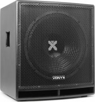 """VONYX SWP15 aktiv subwoofer 15"""" / 800W - ekstra kraftig bas og meget robust design"""