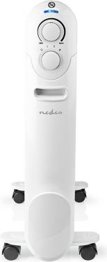 Nedis Mobile Oil Radiator | 2000 W | White, HTOI20EWT9