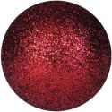 Christmas Decorations, Europalms Deco Ball 3,5cm, red, glitter 48x