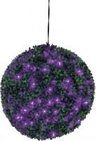 Europalms Boxwood ball with purple LEDs, artificial, 40cm