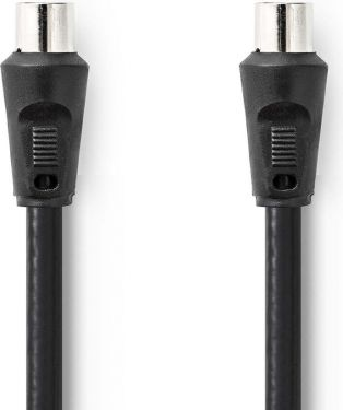Nedis Coax Cable 90dB | IEC (Coax) Male - IEC (Coax) Male | 1.5 m | Black, CSGP40200BK15