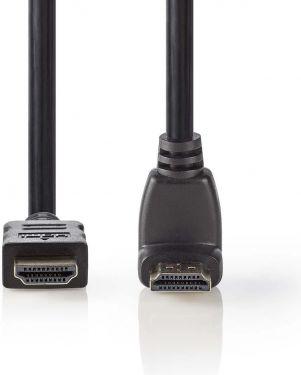 Nedis High Speed HDMI™-kabel med Ethernet   HDMI-stik   HDMI-stik, 90° vinklet   1.5 m   Sort, CVGB3