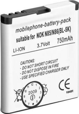Batteri til Nokia N85/N86 750mAh LiION (BL-5K)