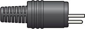 DIN plug, 2-pin