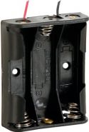 Batterier og tilbehør, Batteriholder til 3 x AA bat. (m. ledninger)