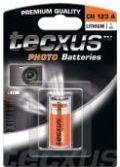 Batterier og tilbehør, Tecxus CR123A Lithium batteri 3V / 1400mAh (1 stk.)