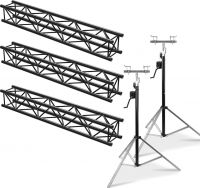 Beamz Truss Pakke sort 6 Meter - Pakkesæt