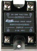 Solid state relæer, Solid state relæ 3-23Vdc, 240VAC / 25A, 1 x slutte