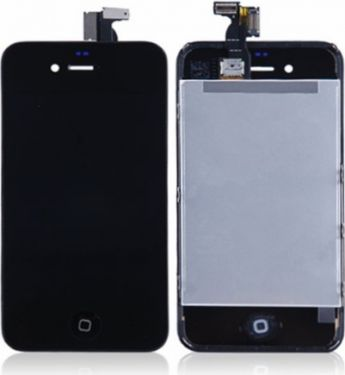 Apple iPhone 4S komplet LCD display+Touch, Sort