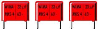 """<span class=""""c9"""">WIMA -</span> MKS4 polyester kondensator 33nF (0,033uF) 100V 10mm"""