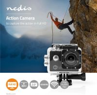 Nedis Action Cam | Full HD 1080p | Wi-Fi | Waterproof Case, ACAM21BK