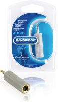 Adapter, Bandridge Stereo Audio Adapter 3.5 mm Han - 6.35 mm Hun Grå, BAP446