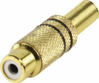 Valueline Connector RCA Female Metal Gold/Black, CC-108B