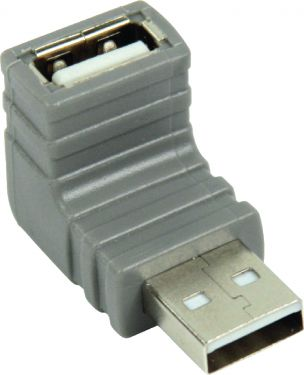 Bandridge USB 2.0 Adapter Angled 270° USB-A Male - USB A Female Grey, BCP466