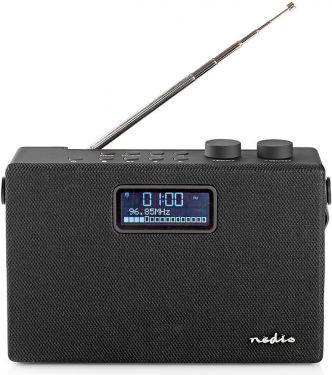 Nedis Digital DAB+-radio | 15 W | FM | Bluetooth® | Sort/sort, RDDB4320BK
