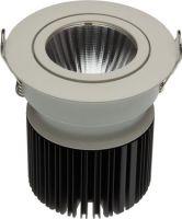 VelLight LED indbygningsspot 230V / 12,6W Rund hvid kip, Varm Hvid