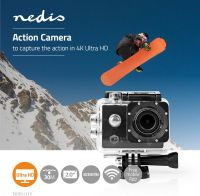 Nedis Action Cam | Ultra HD 4K | Wi-Fi | Waterproof Case, ACAM41BK