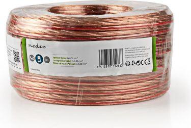 Nedis Speaker Cable | 2x 6.00 mm2 | 25.0 m | Wrap | Transparent, CAGW6000TR250