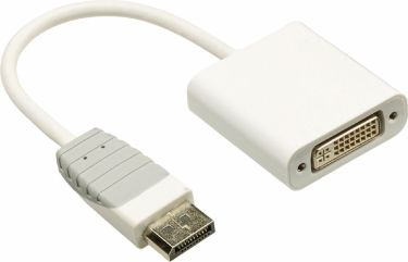 Bandridge DisplayPort Cable DisplayPort Male - DVI-I 24+5-Pin Female 0.20 m White, BBM37250W02