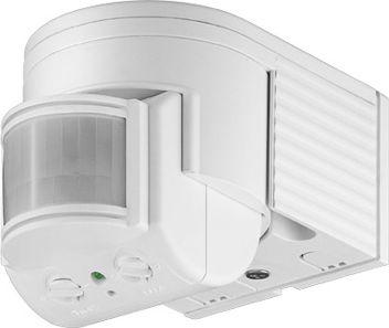 PIR bevægelsessensor 230V/1200W 180° væg, LED ready, Hvid