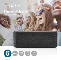 Nedis Bluetooth®-højttaler   2 x 45 W   True Wireless Stereo (TWS)   Vandtæt   Sort, SPBT2003BK