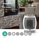 Nedis Ceramic Fan Heater | 750 & 1500 W | Grey, HTFA11CWT