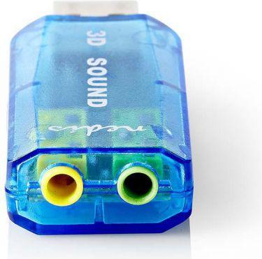 Nedis Lydkort | 3D-lyd 5.1 | USB 2.0 | Dobbelt 3,5 mm stik, USCR10051BU