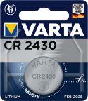 Sortiment, Varta Litium Knappecellebatteri CR2430 3 V 1-Blister, 6430.101.401