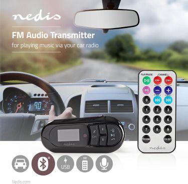 Nedis FM-sender til bil | Bluetooth® | microSD-kortslot | Håndfri opkald, CATR100BK