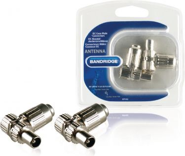Bandridge Coax Connector Male Silver, BYP1102