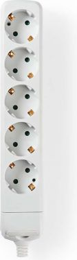 Nedis Extension socket | Protective Contact | 5-Way | White, EXSO500F1WT