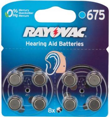 """<span class=""""c9"""">RAYOVAC -</span> PR44 Zinc-air høreapparatbatteri 1,4V / 630mAh (8 stk.)"""