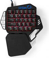 Nedis Enhånds-gamingtastatur | RGB-lys | 33 programmerbare taster, GKBD300BK