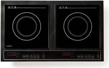Nedis Double Induction Cooker | 3400 W, KAIP112CBK2