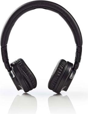 Nedis Hovedtelefoner med kabel   On-ear   Foldbar   1,2 m aftageligt kabel   Sort, HPWD2100BK