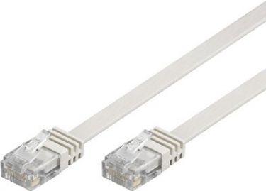 """<span class=""""c9"""">GOOBAY -</span> UTP netværkskabel, FLAD 2xRJ45, CAT6, Hvid (5m)"""
