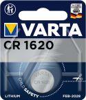 Sortiment, Varta Litium Knappcellsbatteri CR1620 3 V 1-Blister, 6620.101.401