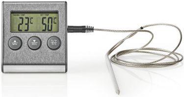 Nedis Stegetermometer | 0-250 °C | Digitalt Display | Timer, KATH104SS