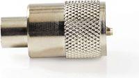 Nedis PL259-kontakt   Hann   For RG6 koaksialkabler   25 stykker   Metall, CSVC43904ME