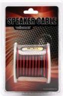 Speaker cable 10-50 m, Velleman Højttalerledning 2 x 1mm² CU, rød/sort, std. (10m)