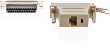 Valueline Seriel Adapter D-SUB 25-Pin Han - RJ45 (8P8C) Hun Elfenbensfarvet, VLCP52822I