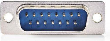 Nedis D-Sub til kabinetmontering | D-Sub 15-benet hanstik | Metal, CCGP52803ME