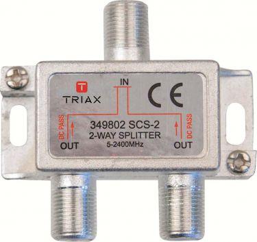Triax Satellitsplitter F-stik 6.2 dB / 5-2400 MHz - 2 Udgange, A300183