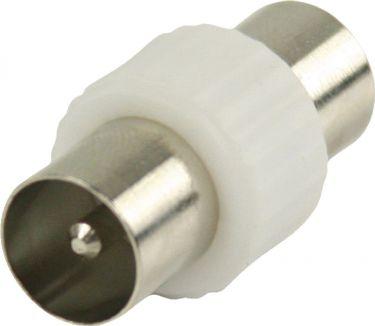 Valueline Coax Adapter Coax Han - Coax Han Hvid, VLSP40940W