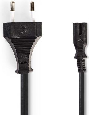Nedis Power Cable | Euro Plug - IEC-320-C7 | 2.0 m | Black, PCGP11042BK20