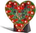 """Byggesæt og moduler, <span class=""""c9"""">Velleman -</span> MK101 Blinkende hjerte m. 28 LEDs"""