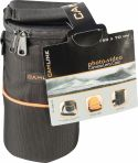 Taske, Camlink Camera Objektiv-Taske 90 x 150 x 70 mm Sort/Orange, CL-OB10