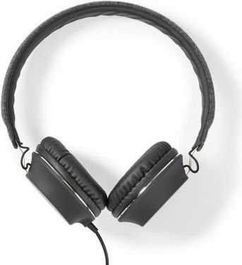 Nedis Fabric Wired Headphones | On-Ear | 1.2 m Audio Cable | Anthracite / Black, FSHP100AT