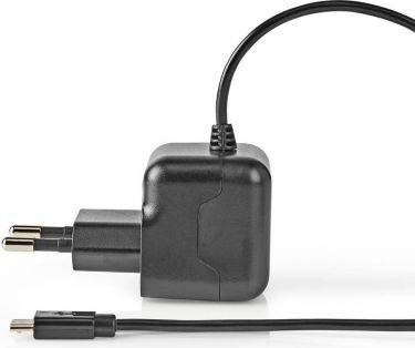 Nedis Wall Charger | 2.1 A | Fixed cable | Micro USB | Black, WCHAM212ABK