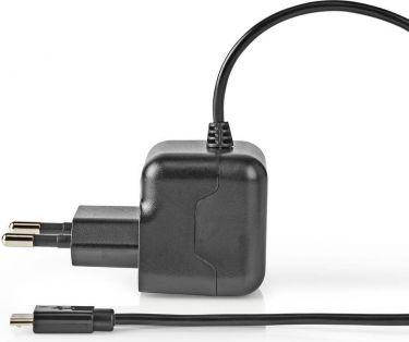 Nedis • Vægoplader | 2.1 A | Fast kabel | Mikro-USB | Sort, WCHAM212ABK